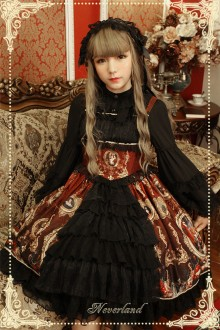 Neverland Magic Night Museum Front Cardigan Classic Gothic Lolita JSK Dress 5 Colors