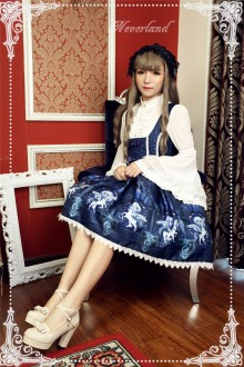 Neverland Space Time Guardian Printing Sweet Lolita Breast Care JSK Dress 4 Colors