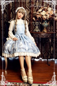 Neverland Space Time Guardian Printing Sweet Lolita Suspender JSK Dress 4 Colors