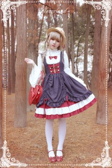 Neverland White Snow Little High Waist Sweet Lolita JSK Dress