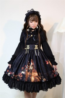 Neverland Song of Time Pumping Belt Blace Gothic Lolita JSK Dress