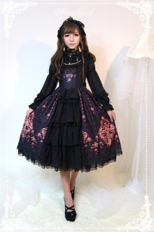 Neverland Gem Swan Round Collar Cardigan Gothic Lolita JSK Dress 4 Colors