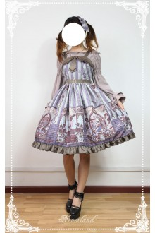 Neverland Steam Punk Cat Fake Lapel Punk Lolita JSK Dress 3 Colors