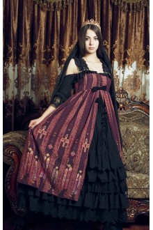 Neverland Byzantine Especially Long Front Cardigan Gothic Lolita Strapless JSK Dress 3 Colors