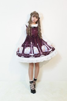 Neverland Starry Sky Aquarius Sweet Lolita Suspender JSK Dress 3 Colors