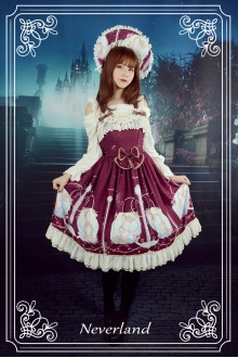 Neverland Starry Sky Aquarius Bowknot Sweet Lolita Suspender JSK Dress 3 Colors