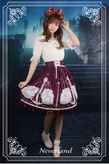 Neverland Starry Sky Aquarius Chiffon Printing Sweet Lolita SK Skirt 3 Colors