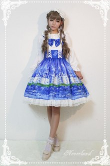 Neverland Lakeside Castle Double Belt Sweet Lolita JSK Dress