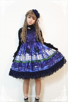 Neverland Lakeside Castle Little High Waist Cardigan Cake Sweet Lolita JSK Dress