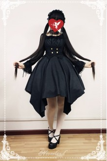 Neverland Concerto For The Dead Dark Gothic Lolita Chest Care JSK Dress 3 Colors