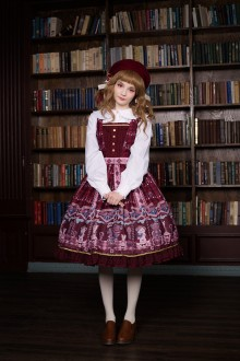 Neverland Chocolate Bear Printing Fake Collar Sweet Lolita JSK Dress 5 Colors