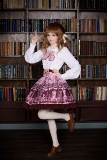 Neverland Chocolate Bear Printing Fake Collar Sweet Lolita SK Skirt 5 Colors