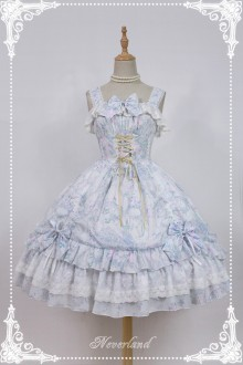 Neverland Antique Clock Chiffon Printing Sweet Lolita JSK Dress