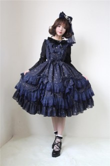 Neverland Star Words Star Wish Bronzing Chiffon Classic Lolita JSK Dress 3 Colors