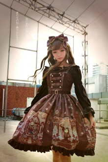 Neverland Steam Punk Cat Three-row Buckle Classic Lolita JSK 3 Colors