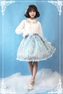 Neverland Crystal Palace Organza Classic Lolita SK Skirt 3 Colors