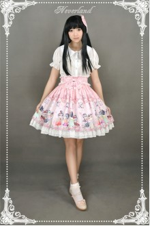 Neverland Chinese Garden Meow Sweet Lolita SK Skirt 3 Colors