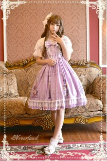 Neverland May Girl Short Sleeves Sweet Lolita OP Dress 4 Colors