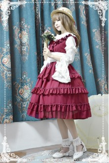 Neverland Color Fairy Tale Chiffon Cake Classic Lolita JSK 4 Colors