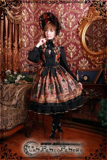 Fanzy Fantasy The Wonderful Journey of The Walnut Little High Waist Classic Lolita JSK Dress
