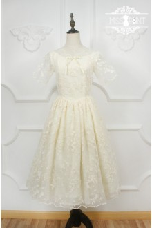Miss Point Original Design Vintage Palace Embroidery Organza Classic Lolita Long Dress