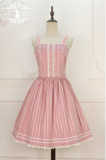 Miss Point Original Design Naval Style Vintage College Style Stripe Sweet Lolita JSK Dress