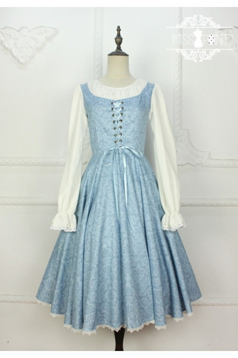 a1c4e04a2677e3 Cheap Miss Point Vintage Literature Embroidery Fake Two Pieces Classic  Lolita Dress (Only accept tailored) - Fashion Lolita Dresses & Clothing Shop