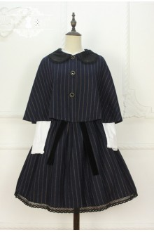 Miss Point Time Travel Vintage British Style College Stripe Classic Lolita Dress