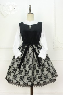 Miss Point Time Travel Vintage Woolen Velvet Classic Lolita Dress