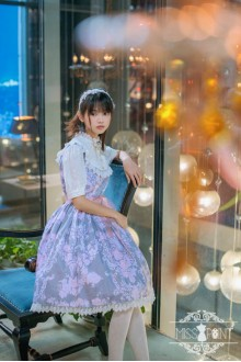 Miss Point Baroque Girl Vintage Elegant College Style Classic Lolita Dress Fake Two Pieces