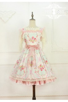 Miss Point Garden Girl Elegant Pastoral Classic Lolita Suspender Dress