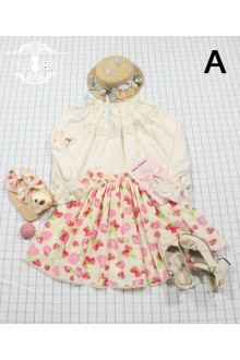 Miss Point Strawberry Cats Cherry Printing Sweet Lolita SK (Multiple Colour)