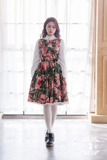 Miss Point Blackberry Rose Vintage Elegant Boat Neck Classic Lolita Dress