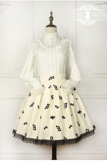 Miss Point Music Class Vintage Embroidered Sweet Lolita SK