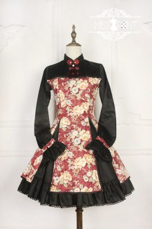 Miss Point Chinese Style Stand Collar Long or Short Sleeves Classic Lolita OP Dress