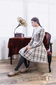 Miss Point Wendy's Afternoon Tea Vintage Lattice Classic Lolita Dress