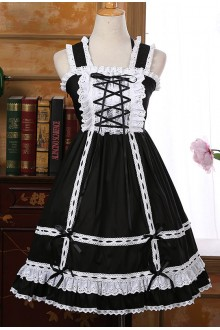 Solid Color Sweet Lace Doll Sleeveless Lolita Suspender Dress 6 Colors