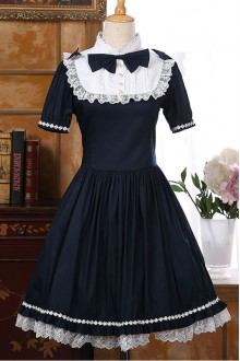 Sweet Palace Short Sleeves Bowknot Classic Lolita Dress 4 Colors