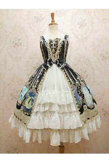 Yilia Original Printing Crystal Rabbit Cardigan Chiffon Sweet Lolita Dress 4 Colors