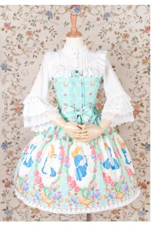 Yilia Original Printing Alice Sweet Lolita JSK Dress 3 Colors