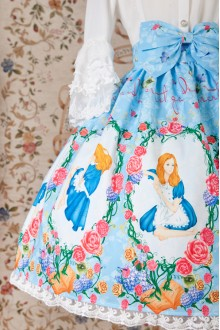 Yilia Original Printing Alice Sweet Lolita SK Skirt 3 Colors