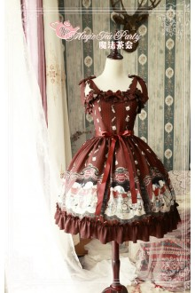 Magic Tea Party Original Printing Bremen Town Musicians Sweet Lolita JSK Dress 3 Colors