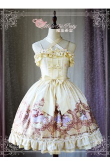 Magic Tea Party Original Printing Flowers Birds and Poems Sweet Lolita JSK Version 1