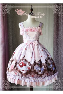 Magic Tea Party Original Printing Flowers Birds and Poems Sweet Lolita JSK Version 2