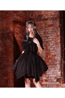Neverland The Serenade of The Souls Black Chiffon Gothic Lolita JSK Dress