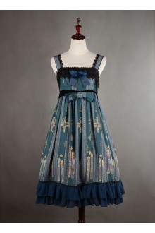 Neverland Byzantine Colored Windows Chiffon Sweet Lolita JSK Dress
