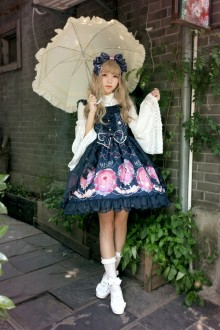 Neverland Beauty and The Beast Printing With Gauze Sweet Lolita JSK Dress 4 Colors