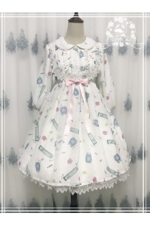 Rose Cat An Electric Fan In Autumn Sweet Lolita OP Dress 3 Colors