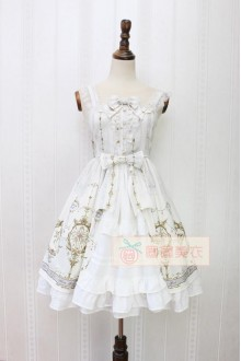 Alice Girl Angel Cross Flouncing Bowknot Lace Sweet Lolita JSK Dress 4 Colors