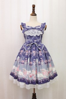 Alice Girl Imperial Crown Bradde Chain Cat Bowknot Sweet Lolita JSK Dress